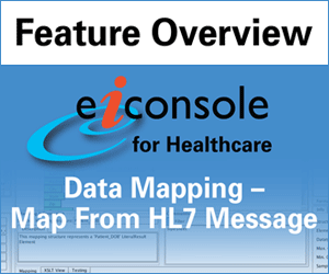 HL7 Data Mapping in the eiConsole