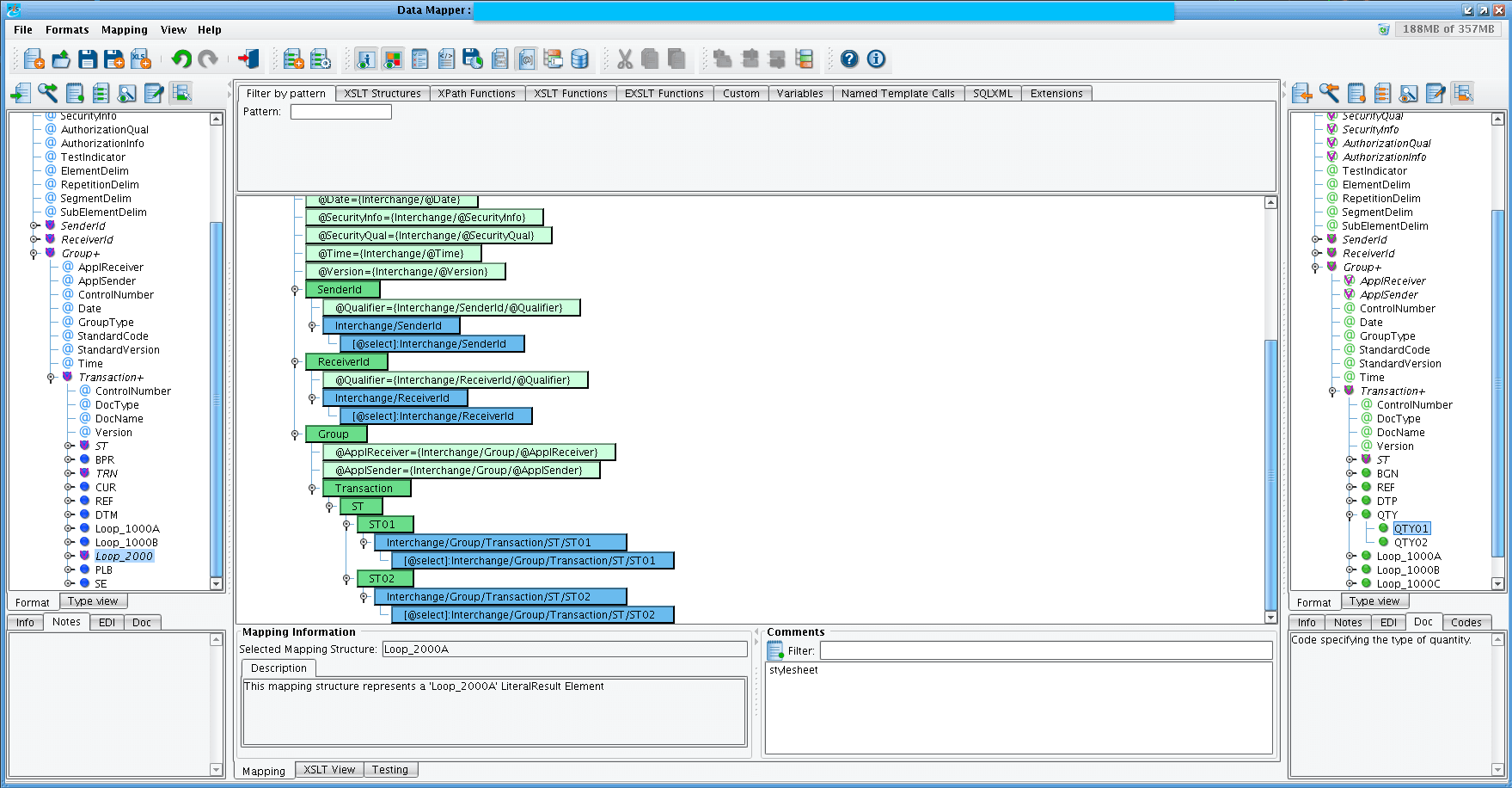 EDI 834 A1 Benefit Enrollment & Maintenance Transaction Displayed in EDI Data Processing Software