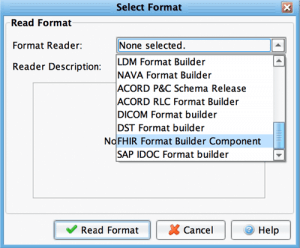 FHIR Format Builder Component in Interface Engine